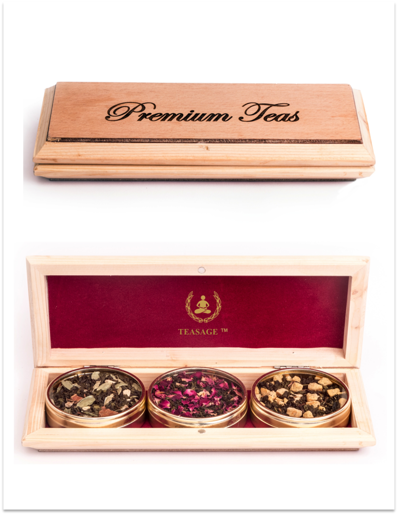 Premium Wooden Tea Box - TEASAGE™ - Loose Leaf Tea, Tea Box ...